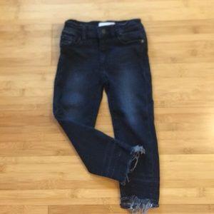 Size 3 DL1961. Black Denim Chloe Skinny Jeans